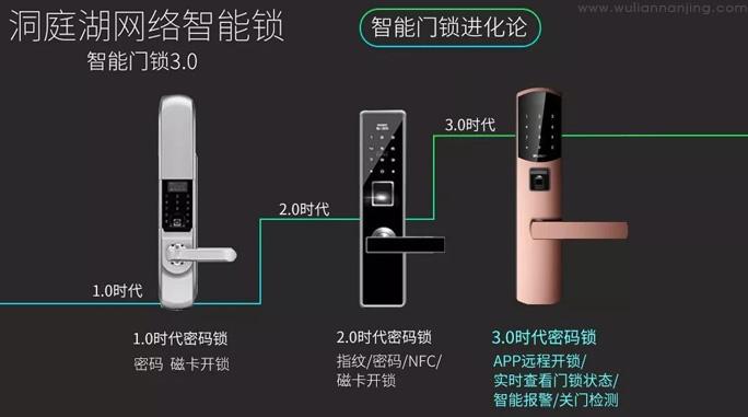 洞庭湖网络智能锁,智能门锁3.0