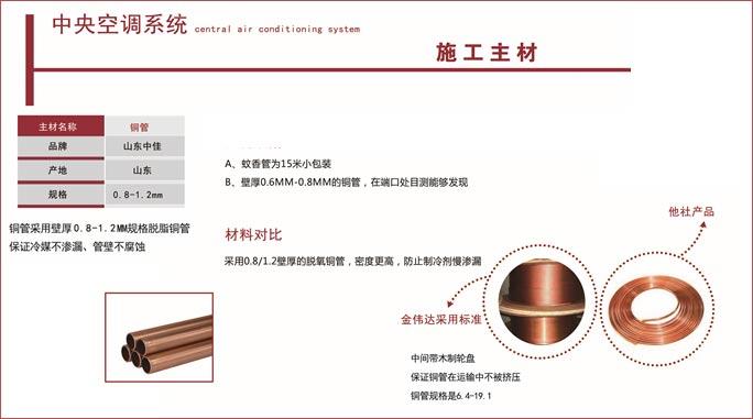 空调施工主材铜管